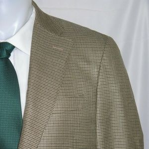Canali Brown Label Silk Blend Two Button Blazer